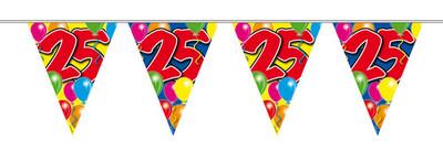 Vlaggenlijn balloons 25 jaar 10m. a12
