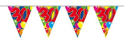 Vlaggenlijn balloons 30 jaar 10m. a12