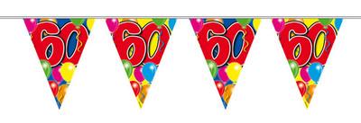 Vlaggenlijn balloons 60 jaar 10m. a12