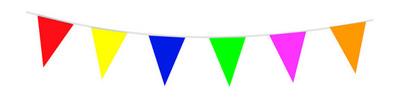 Vlaggenlijn assorti kleuren 10m/stk a12