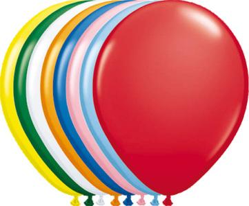 Ballonnen folatex 30 cm. onb std ass 10st. a12