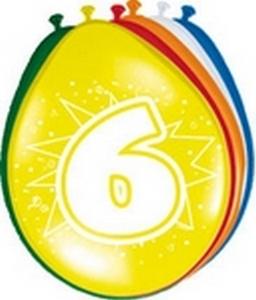 Ballonnen folatex 30 cm. 6 jaar 8st. a12