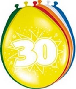 Ballonnen folatex 30 cm. 30 jaar 8st. a12