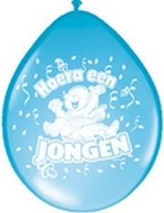 Ballonnen folatex 30 cm. jongen 8st. a12