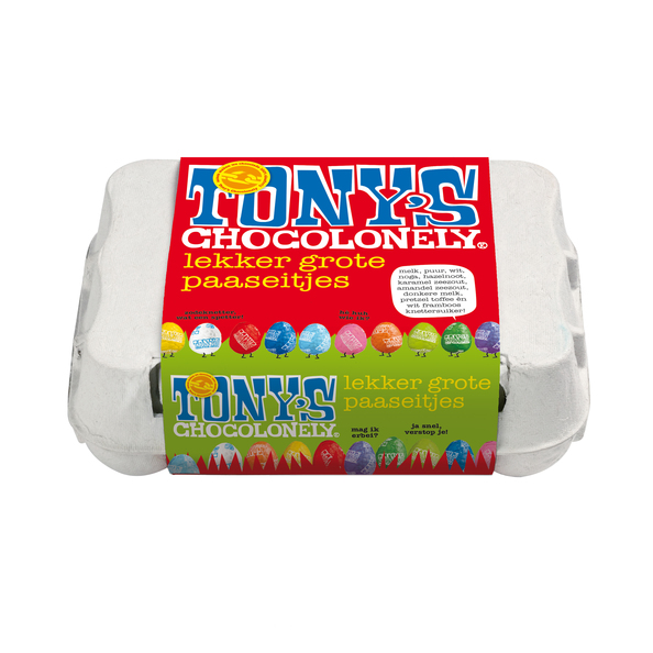 Tony's Chocolonely paaseitjes assorti 12 stuks