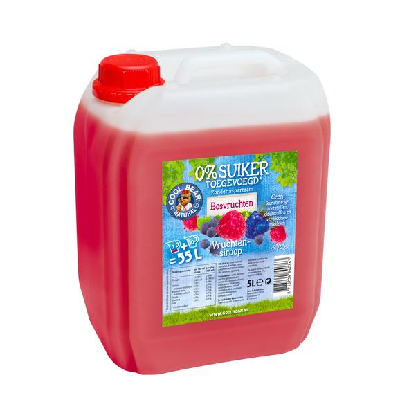 Cool Bear bosvruchten limonadesiroop 5 liter
