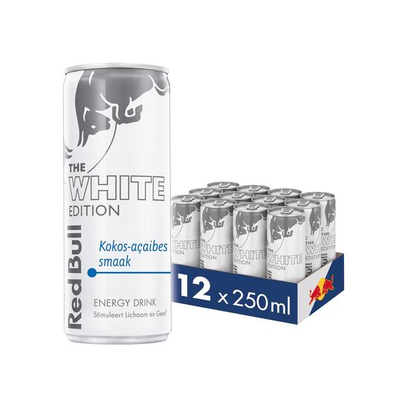 Red bull the white edition kokos-acaibessmaak blik 250 ml