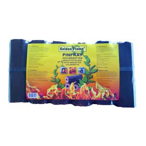 Golden Flame pini kay houtbriketten 10 kg 12 stuks