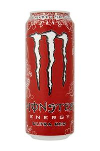 Monster energy ultra red blik 0.5 liter