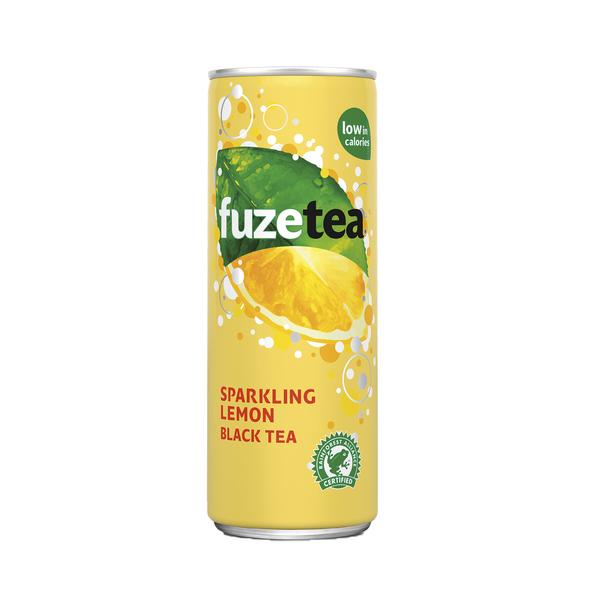 Fuze tea sparkling black tea blik 25 cl