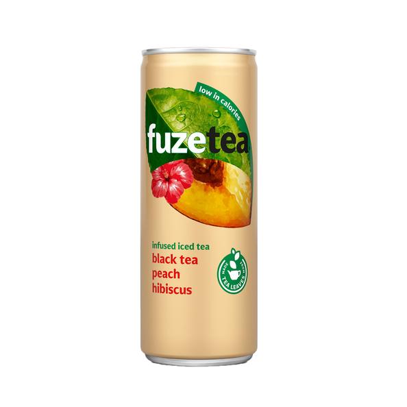 Fuze tea peach hibiscus blik 25 cl