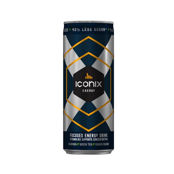 Iconix energy drink regular blik 250 ml