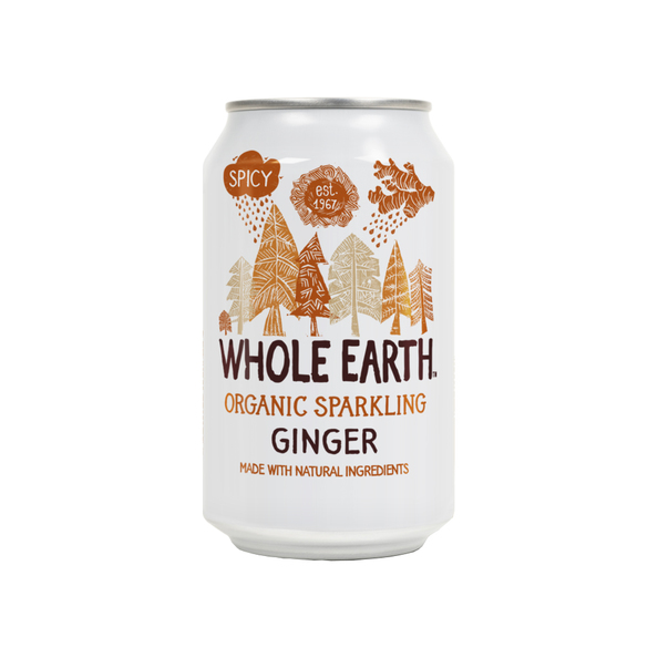 Whole earth ginger bio blik 33 cl