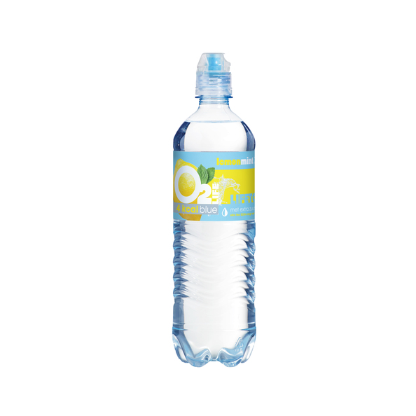 O2life blue lemon mint pet fles 750 ml