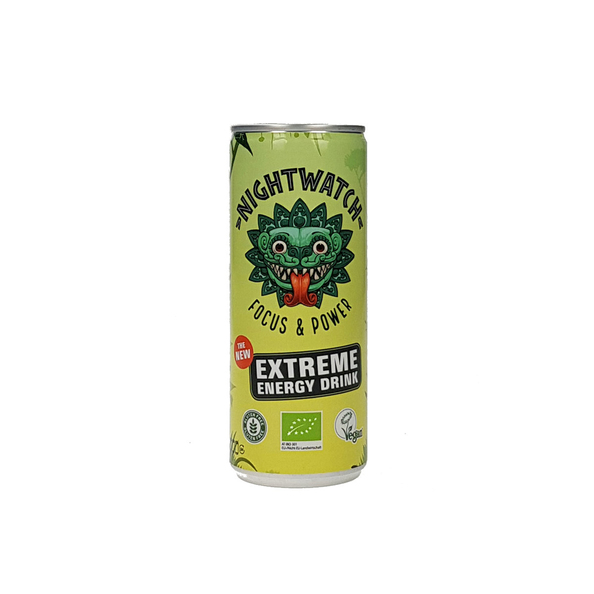 Nightwatch plant based energy drink blik 25 cl