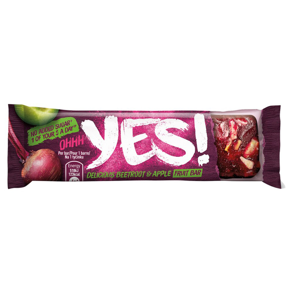 YES beetroot and apple bar 32 gr