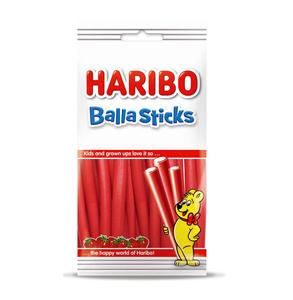 Haribo balla sticks aardbei 80 gram