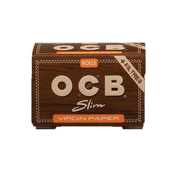 OCB virgin rolls paper + tips 4 meter + 40 tips