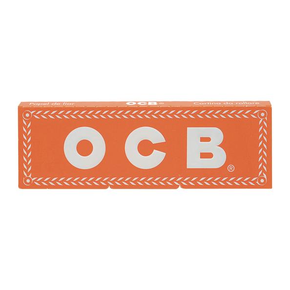 OCB orange single rolling paper boekje 50 vloeitjes