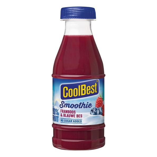 CoolBest smoothie framboos & blauwe bes pet 250 ml
