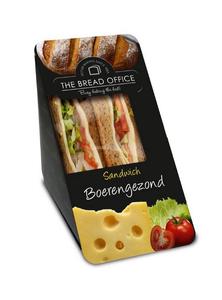 The Bread Office sandwich cardboard boerengezond meergranen 160 gr kort houdbaar