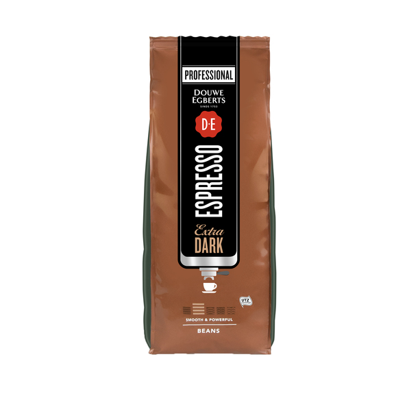 Douwe Egberts espresso koffiebonen extra dark 1 kilo