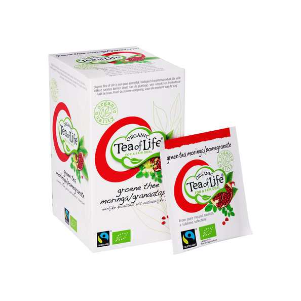 Tea of life fairtrade organic moringa/pomegranet 1.5 gr