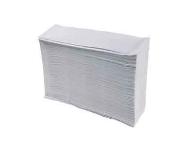 Papieren handdoekjes z-vouw recycled nat 1 laags 23x25 cm 5000 stuks