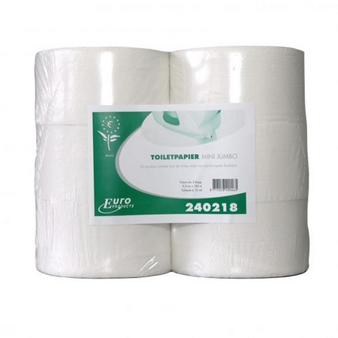 Toiletpapier 2lgs mini jumbo tissue 12x180mt
