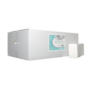 Papieren handdoekjes multifold verlijmd 2 laags 24x21 cm 3750 stuks