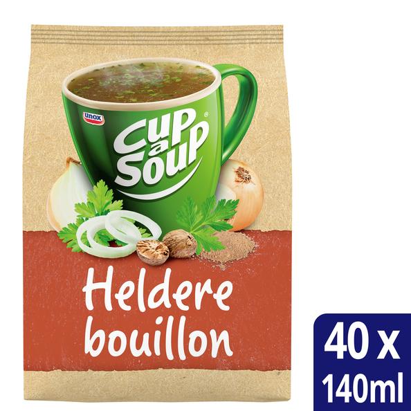 Unox Cup-a-Soup vending Heldere Bouillon 40 x 140 ml x 4