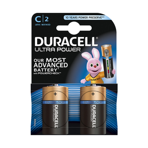Duracell ultra (MN 1400) C LR 14 blister 2 stuks