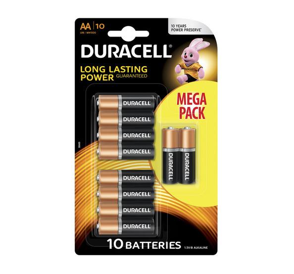 Duracell basic alkaline AA/LR6 10-pack
