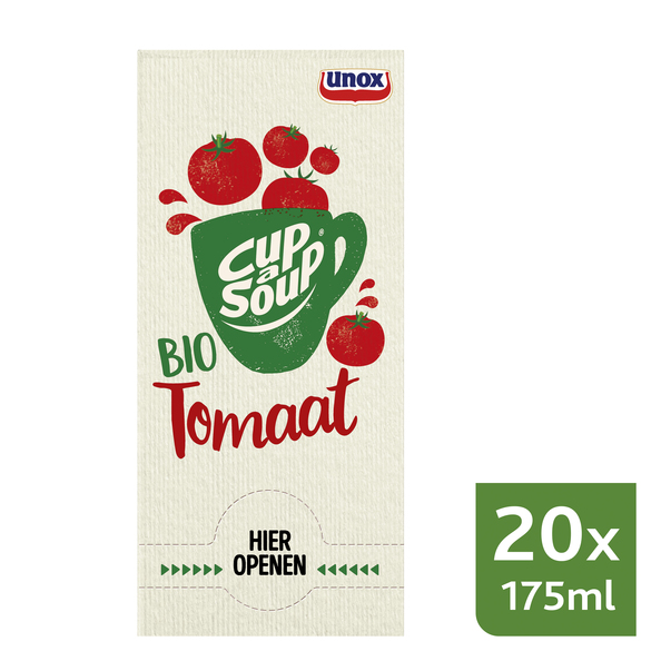 Unox Cup-a-Soup Bio Tomaat 20 x 175 ml