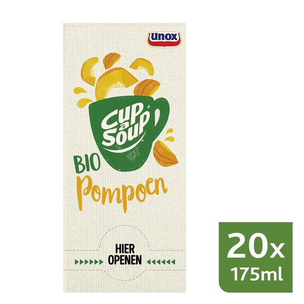 Unox Cup-a-Soup Bio Pompoen 20 x 175 ml