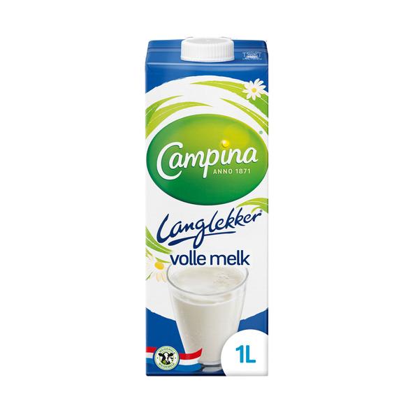 Campina langlekker volle melk pak 1 liter