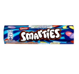 Smarties koker 38 gr - Candybars - Assortiment - FOOX Smarties Verpakking