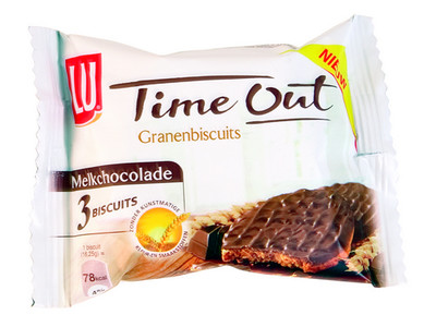 Lu time out granenbiscuit chocolade