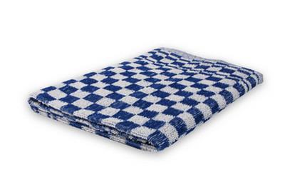 Weco keukendoek geblokt 60x60 cm blauw/wit 6 stuks