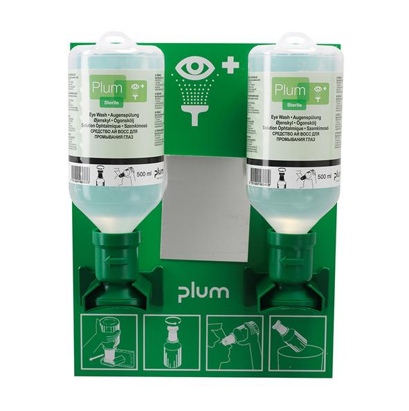 Plum muurhouder inclusief 2 x 500 ml oogspoelmiddel