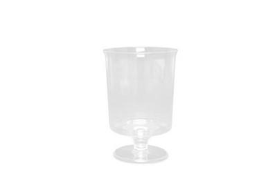 Plastic wijnglas op voet 170cc a10
