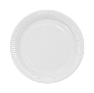 Bord karton rond wit 18 cm