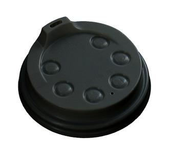 Deksel 80 mm + drinkgat voor hotcup  250 ml zwart