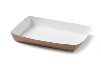 Conisch bakje bruin karton 160 x 100 x 24 mm