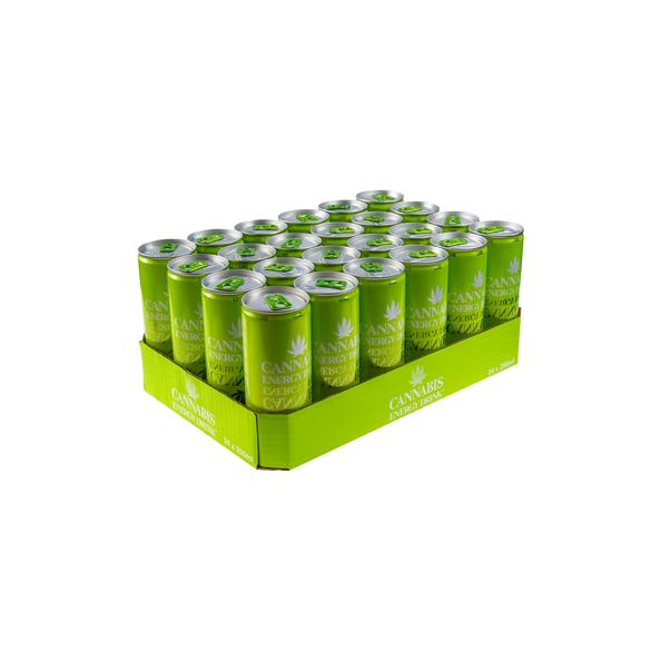 Cannabis energydrink lime blik 250 ml