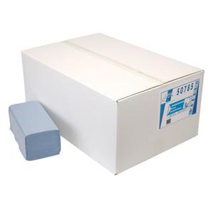 Euro papieren handdoek z-vouw blauw. 1 laags. 23 x 25 cm. 5000 stuks