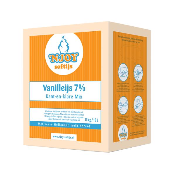 NJOY 7% vanilleijs 10 liter vloeibaar ijsmix