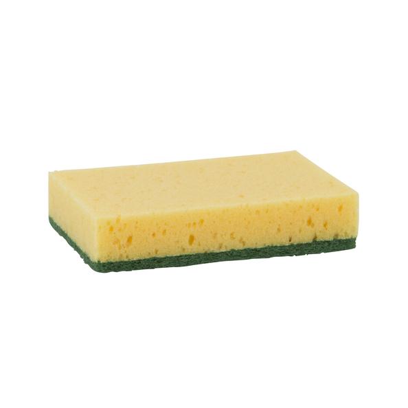 Schuurspons  ca. 100x70x25 mm 50x10st geel/
