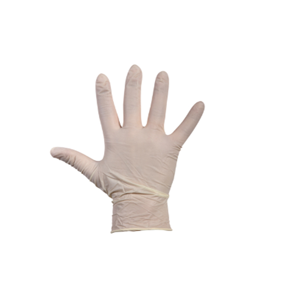 Handschoen latex wit gepoederd L a100