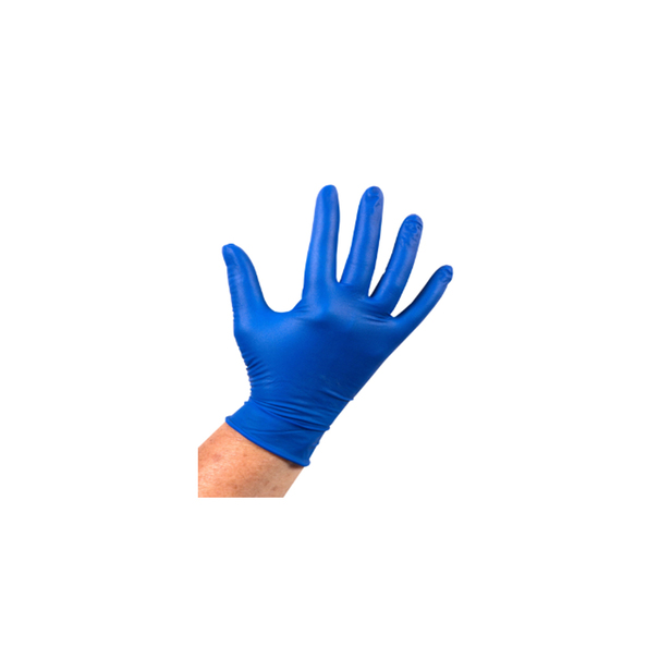 Handschoen latex blauw ongepoederd L a100